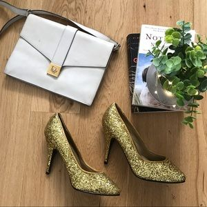 🆕🐶 Vintage Gold Sequin Heels by Lilly